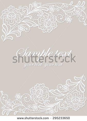 Template frame design for card. Vintage Lace Doily   页面排版 ...
