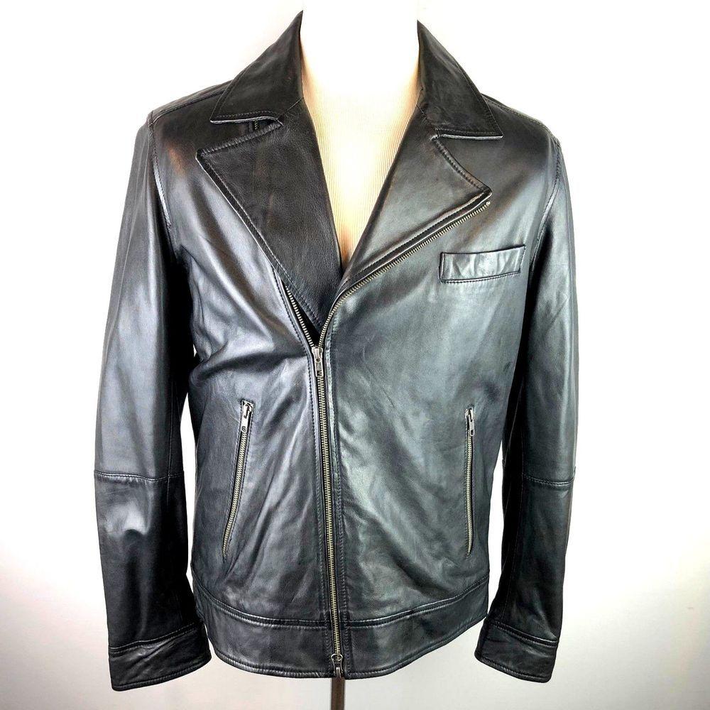 Reiss Brando Black Sheep Leather Biker Jacket Medium Rrp 425 Superb Hardly Worn Leather Biker Jacket Biker Jacket Sheep Leather [ 1000 x 1000 Pixel ]