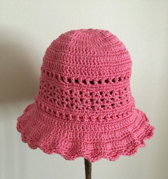Hat was cotton pink, baby 12 18 months, directed to the hook ... 24c0c263a1e