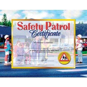 safety patrol certificate 30 pack downloadable templates available