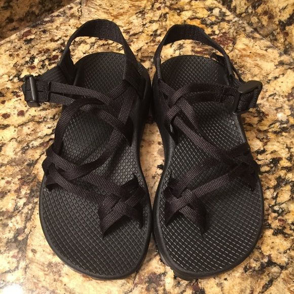 Chaco zx/2 unaweep sandals women's Black, double strap sandal. Never worn, this is a wide size sandal. Chacos Shoes Sandals