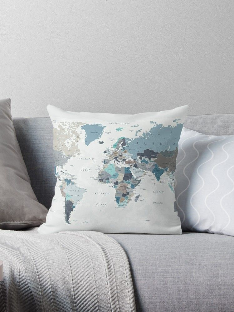 Evolving Ocean Part One' Throw Pillow