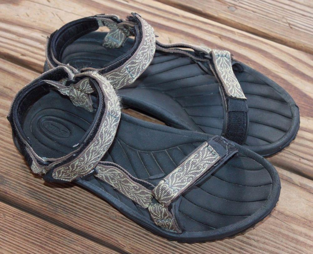 78bfa8da053f57 Teva Pretty Rugged Nylon 3 Sport Sandals 6465 Brown Tan Women s Size 7.5  Outdoor  Teva  SportSandals