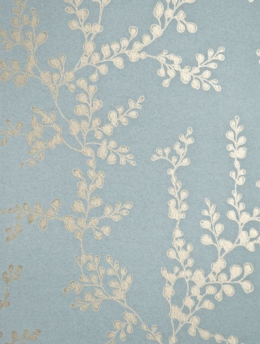 Metallic Flower Wallpaper