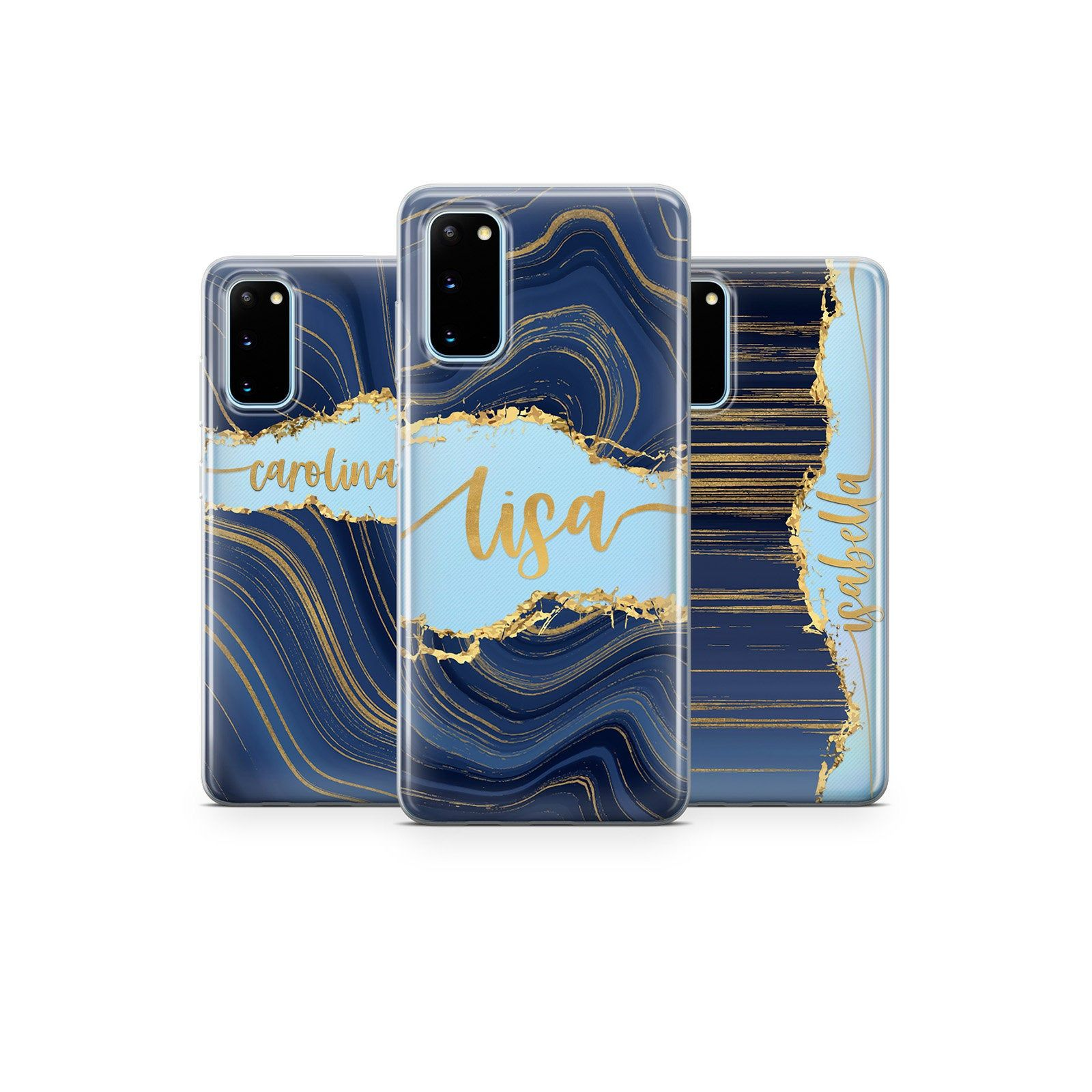 Custom Name Phone Case Marble Blue Samsung A51 A50 Samsung Etsy In 2021 Phone Cases Phone Cases Marble Samsung Phone Cases