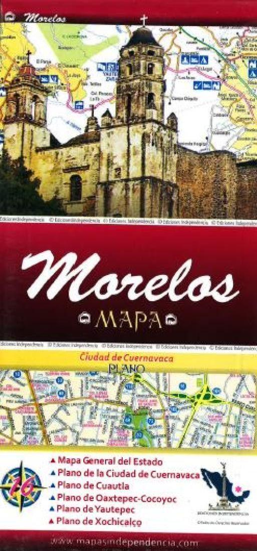 Morelos, Mexico, State and Major Cities Map by Ediciones Independencia