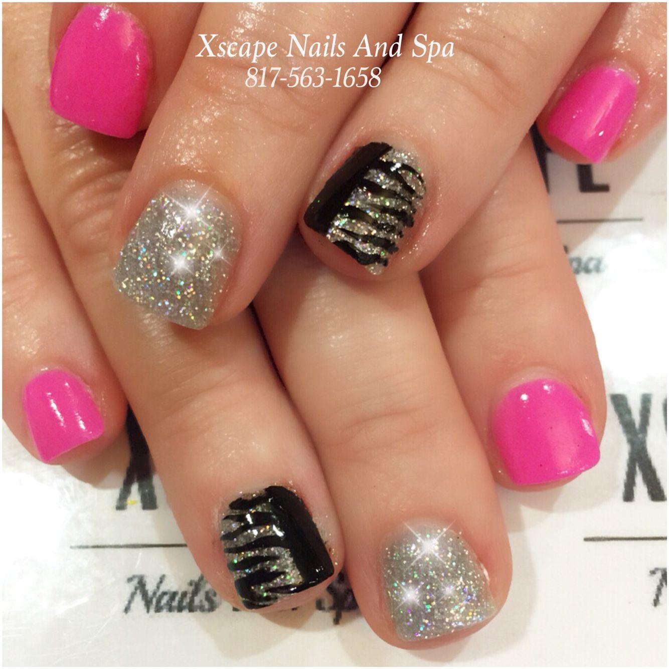 Zebra Nail Designs Cute Nails Designs Pinterest Zebra Nail