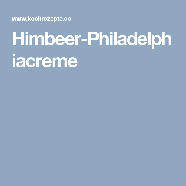 Himbeer-Philadelphiacreme