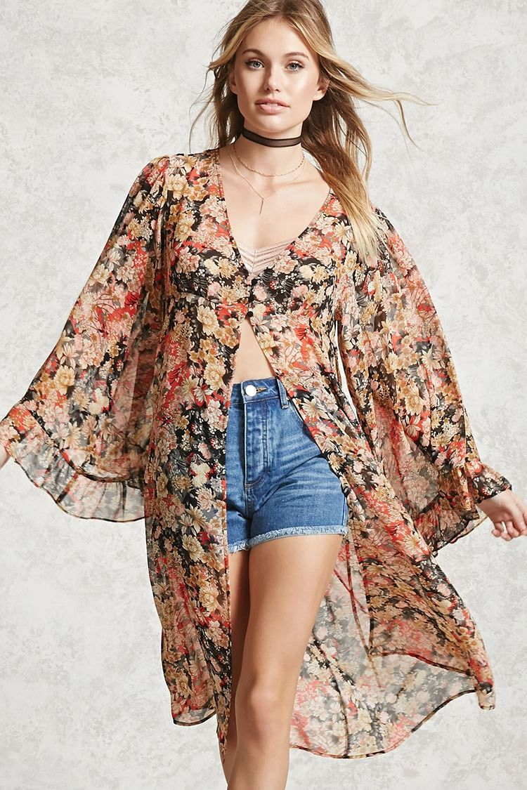 Forever 21 Contemporary - A semi-sheer lightweight woven cardigan ...