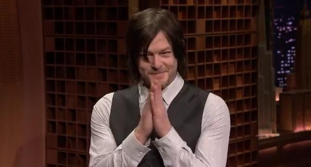 Norman Reedus The Tonight Show Jimmy Fallon 3-5-14