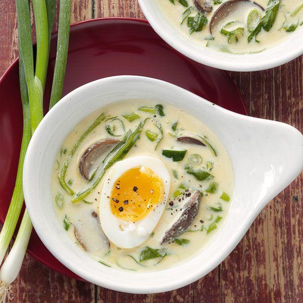 Rezept für Frühlingssuppe mit Ei   Küchengötter