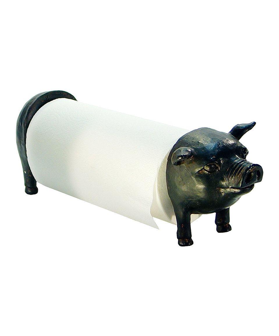 Black pig paper towel holder paper towel holder rustic