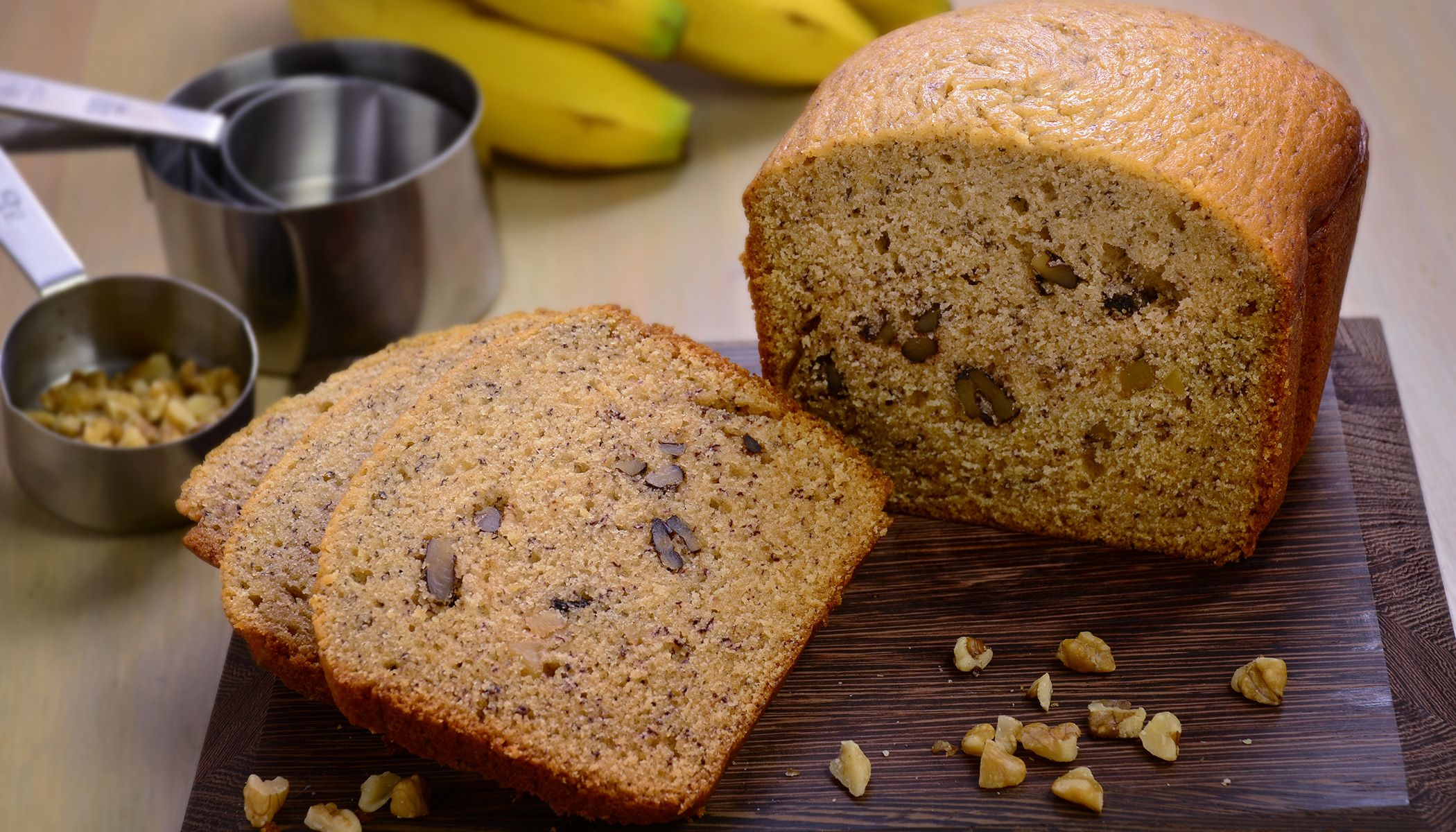 Banana bread in a breadmaker? Yes please! No extra bowls ...