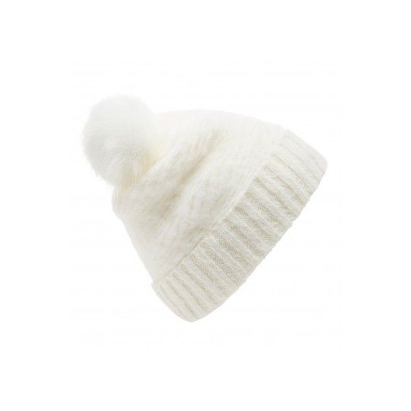 901ae595b89 Forever New Alexandra Knitted Pom Pom Beanie ( 11) ❤ liked on Polyvore  featuring accessories