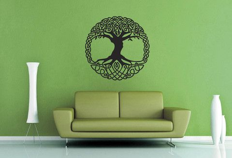 celtic knot yggdrasil wall decal - no 1 | house | wall decals, wall