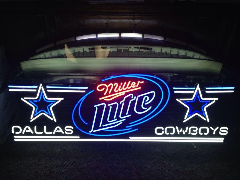 Vintage Dallas Cowboys Miller Lite New Stadium Neon Led