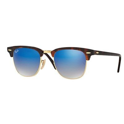 ray ban aviator dourado lente azul