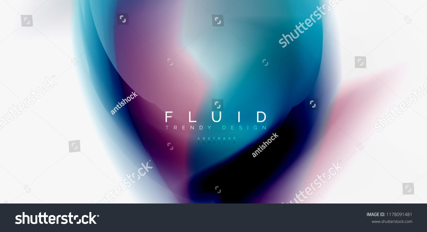 Color Flowing Wave Trendy Liquid Design Template For Presentation Internet Poster Or Web Brochure Cover Wallpaper Vector Illustration Graphics Brochur