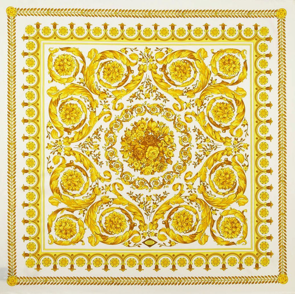 41beb11f3a79 Versace Square Scarf, Silk Scarves, Baroque, Floral Prints, Versace  Pattern, Chic