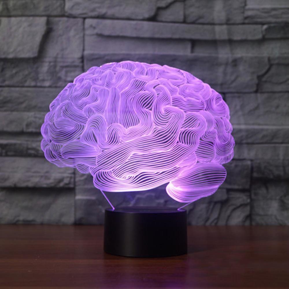 Brain Shape 3d Illusion Led Night Light Desk Lamp Hapeisy Led Night Light Brain Shape Night Light
