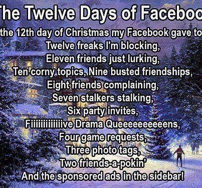 12 days of Facebook Funny Stuff Pinterest Facebook