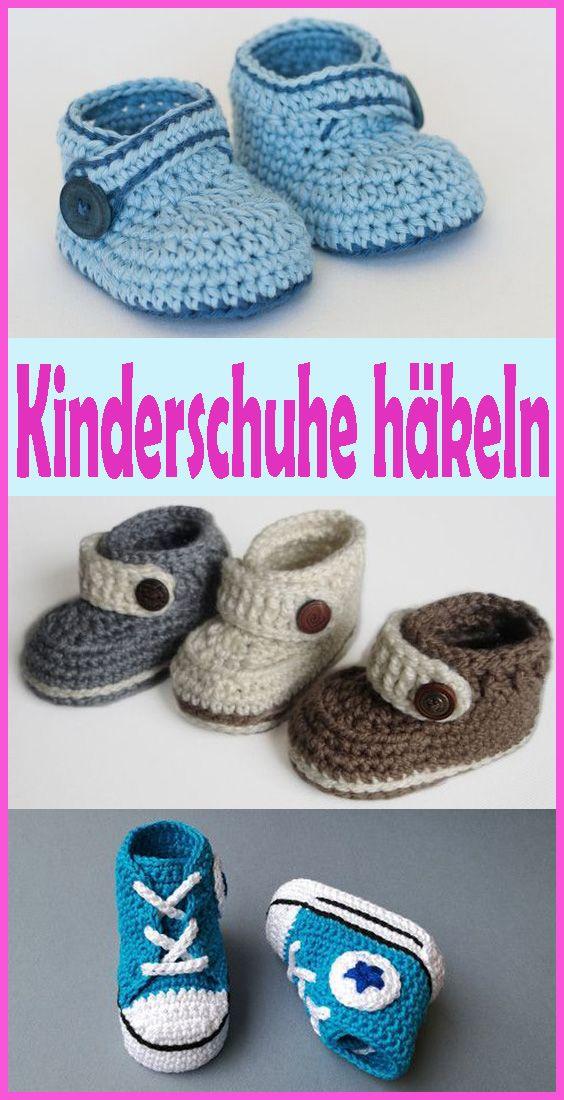Babyschuhe häkeln - kostenlose & einfache Anleitung für ...