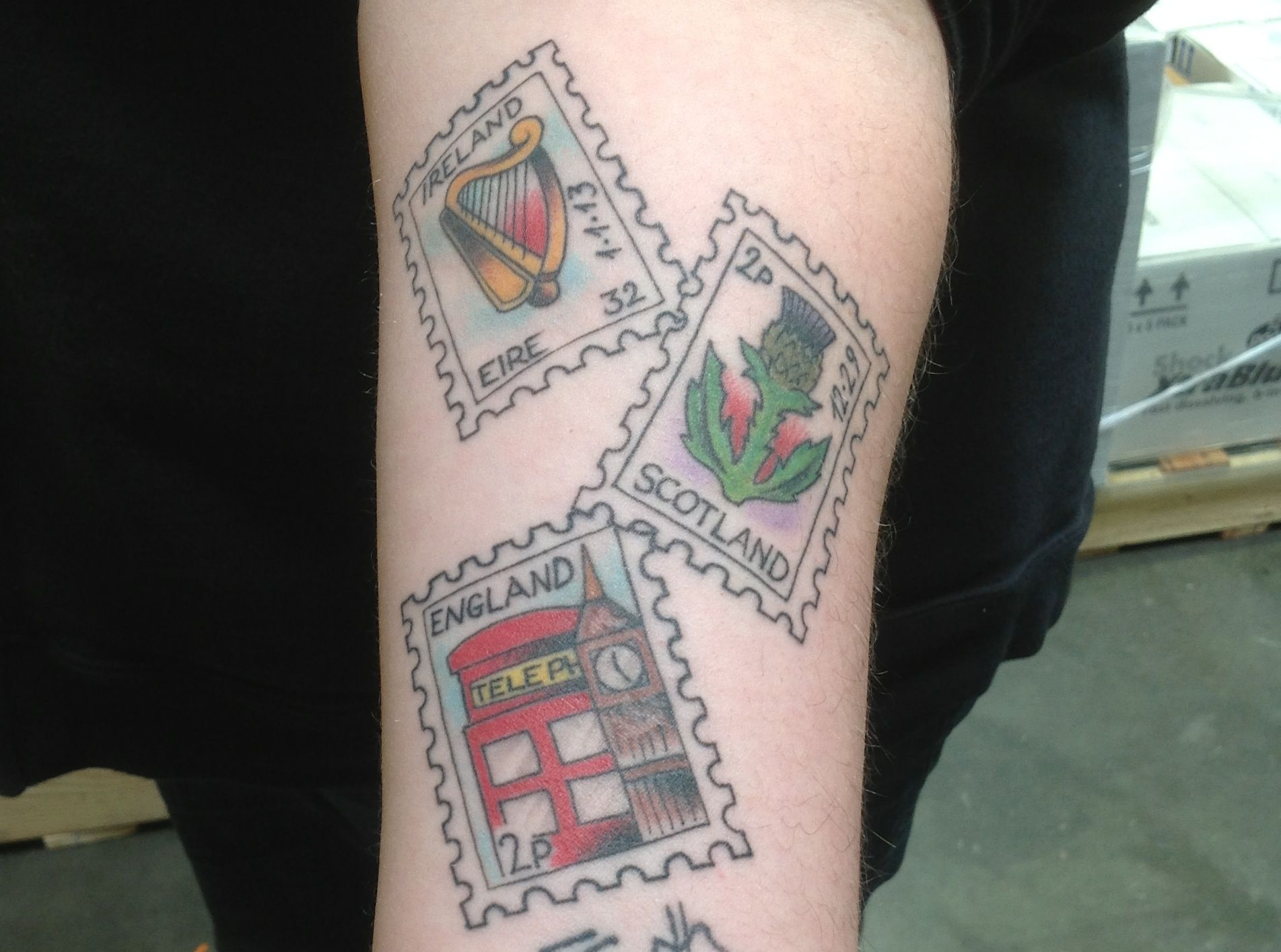 20 Postage Stamp Tattoo Designs For Men – Traveler Ink Ideas
