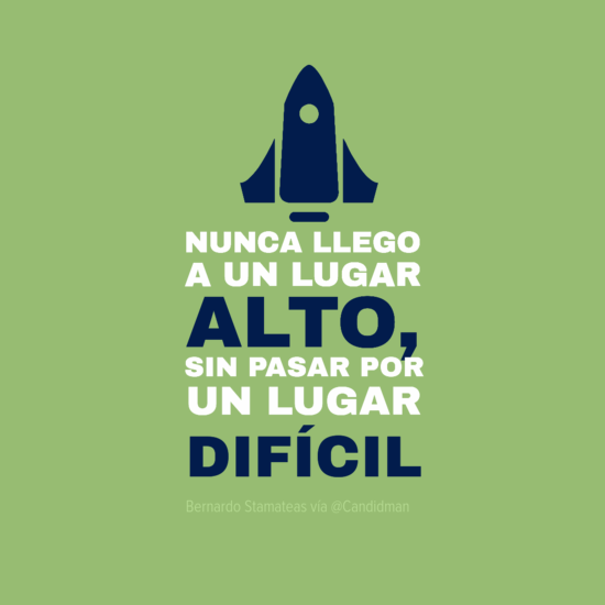 """""""Nunca llego a un lugar alto, sin pasar por un lugar difícil"""". #BernardoStamateas #Citas #Frases @candidman"""