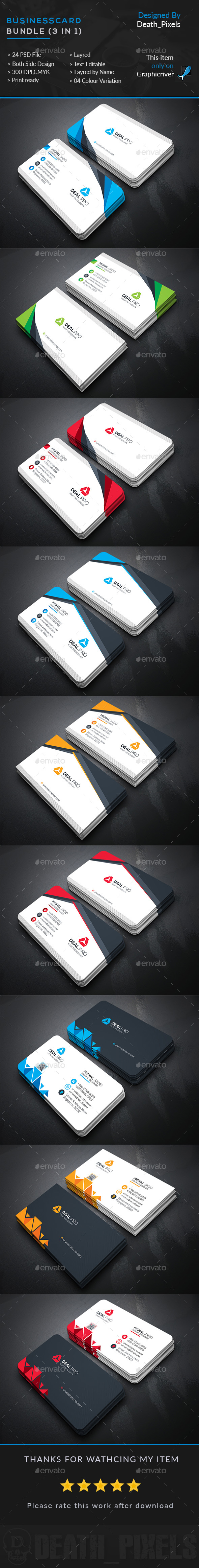 Business card templates psd bundle 3 in 1 business card business card templates psd bundle 3 in 1 reheart Choice Image