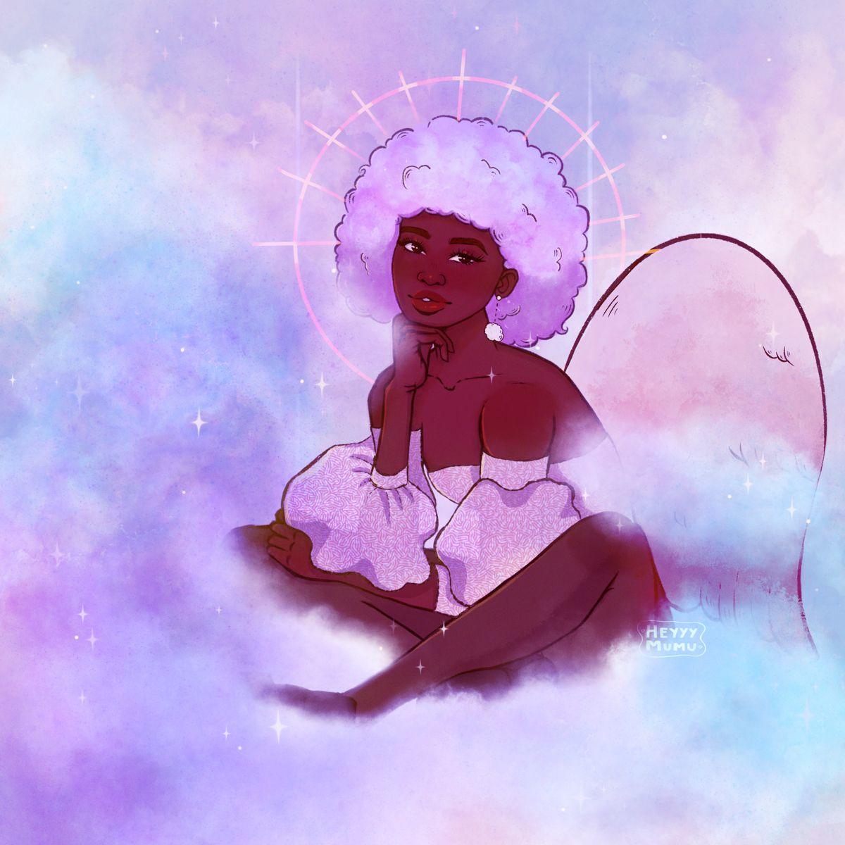 #angelvibes #blackartists #blackangels