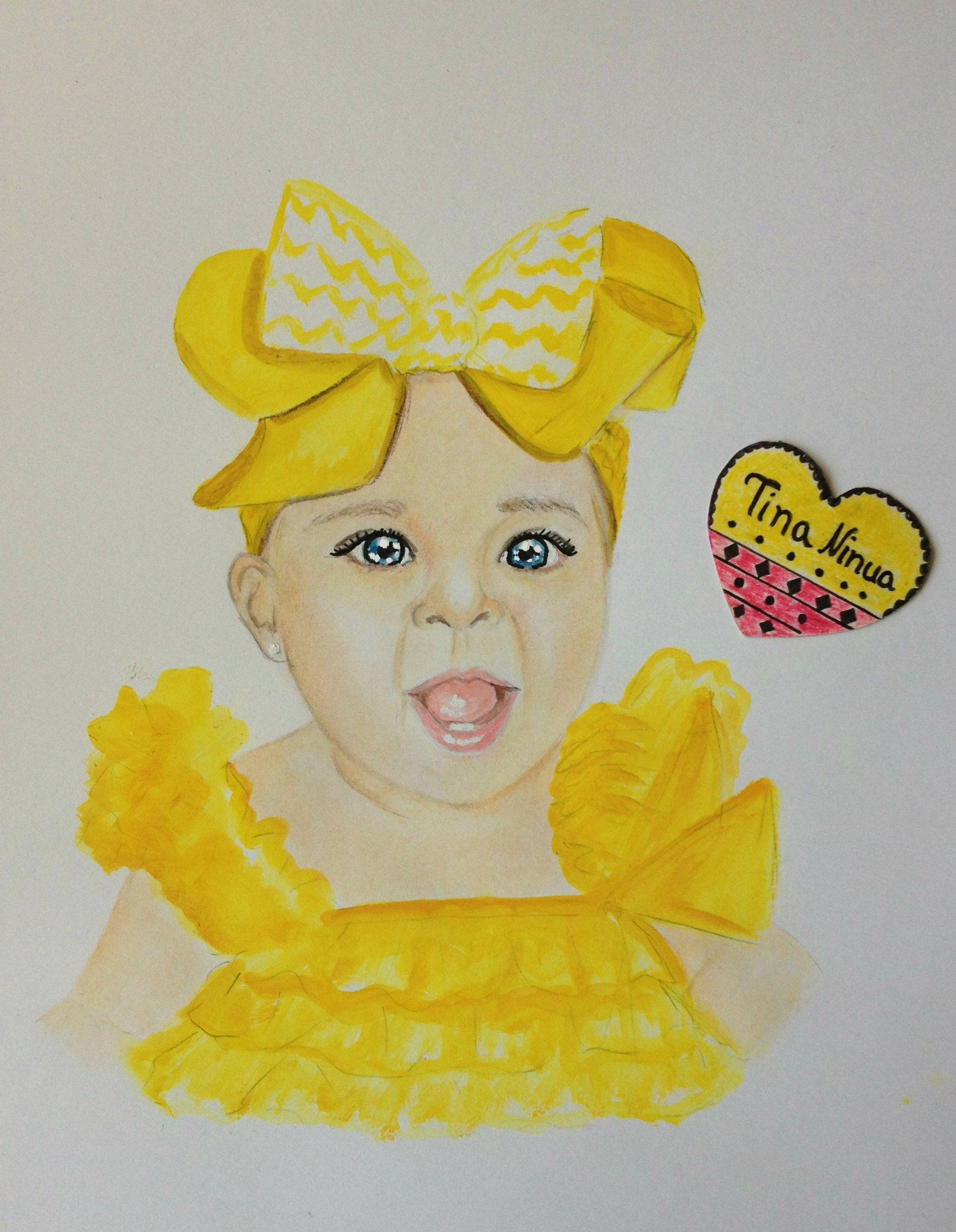 #baby #art #drawing #illustration #colorpencil #watercolor #artist #fashionillustration #yellow #beautifulfaces #worldchildren
