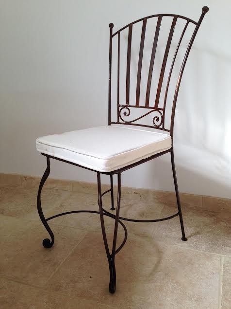 chaise fer forg new tarif 78 ttc hors finition et coussin - Chaise Fer Forge