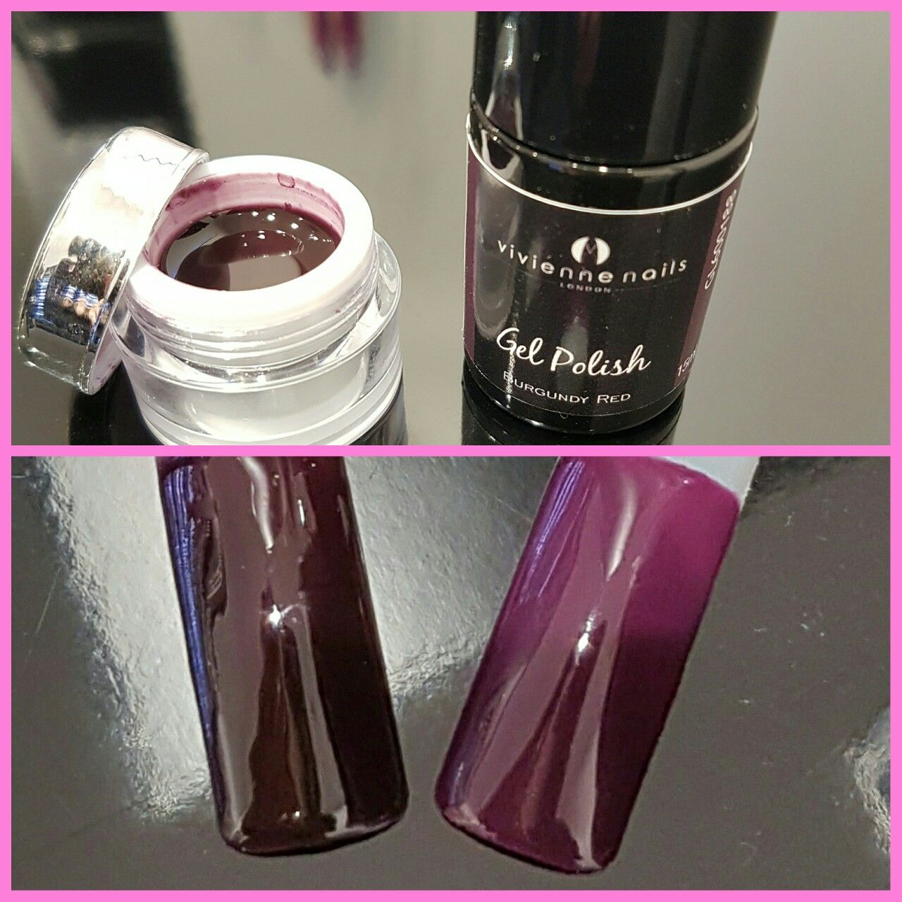 Luscious cherry noir look very popular colour this autumn uv gel why not do it yourself solutioingenieria Image collections