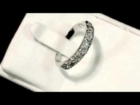 Video 1 30 ct Diamond Eight Stone White Gold Ring Vintage