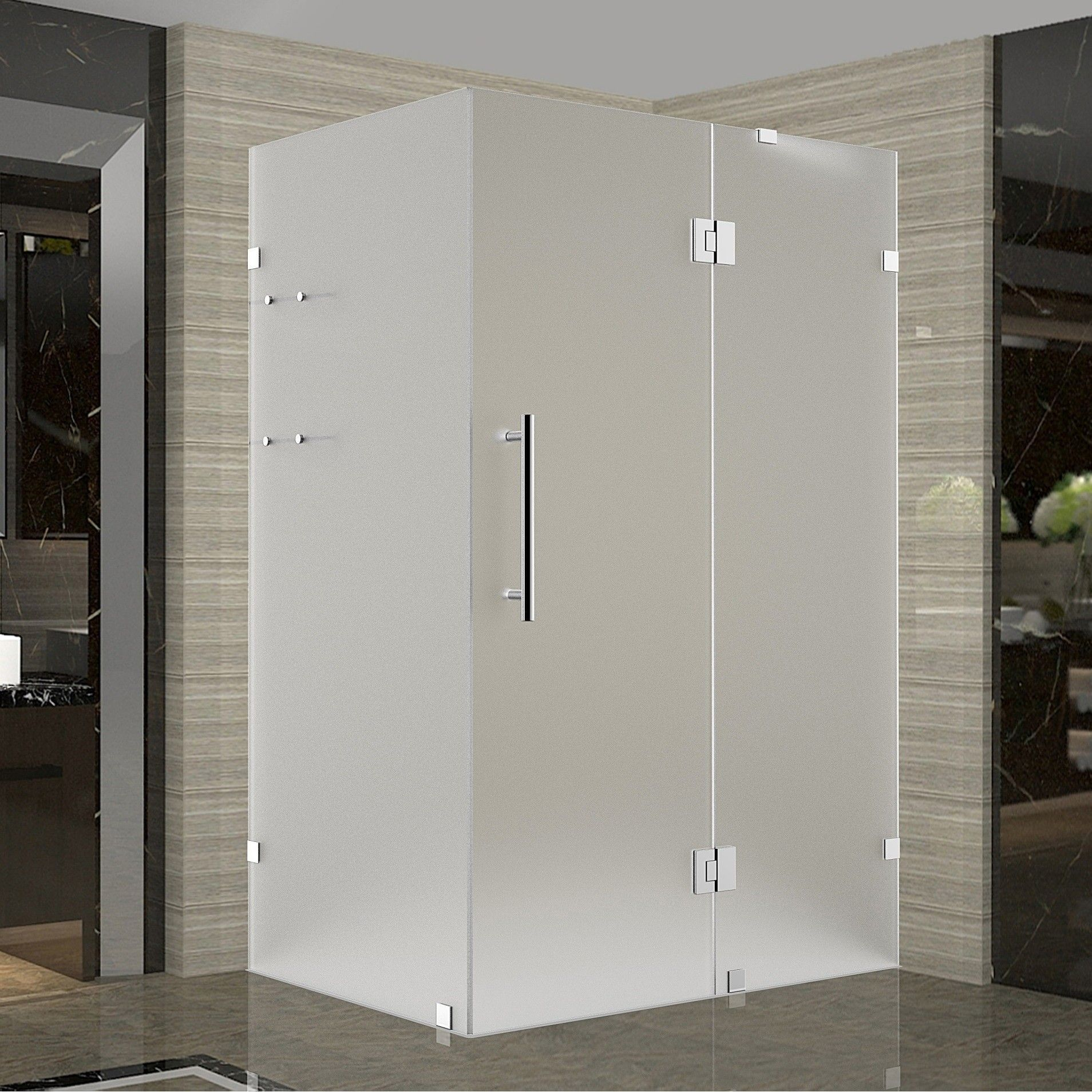 Avalux Gs 42 X 36 X 72 Completely Frameless Hinged Shower