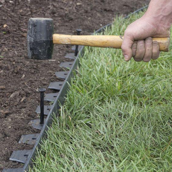 EasyFlex No-Dig Edging Kit, 40-Feet Patio, Lawn
