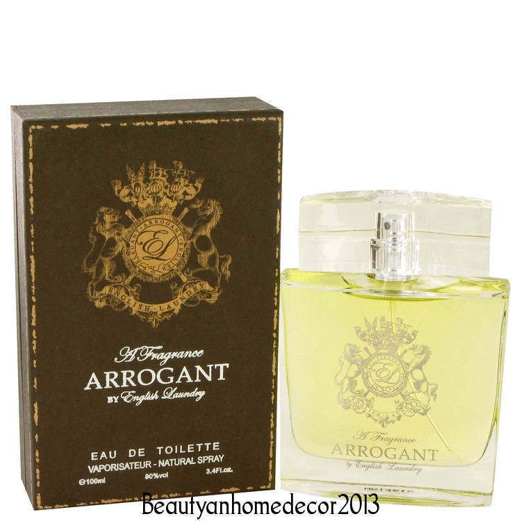 Arrogant By English Laundry 3 4 Oz Edt Cologne Spray For Men New