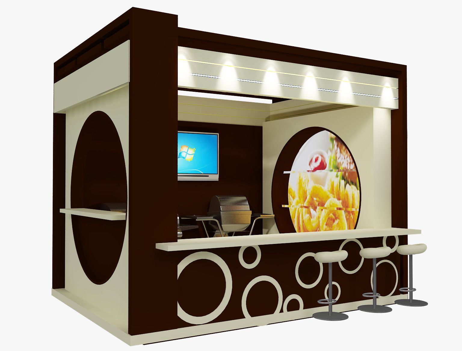 Exhibition Stall Arrangements : Stand exhibition booth 3d model 3d model exhibition design