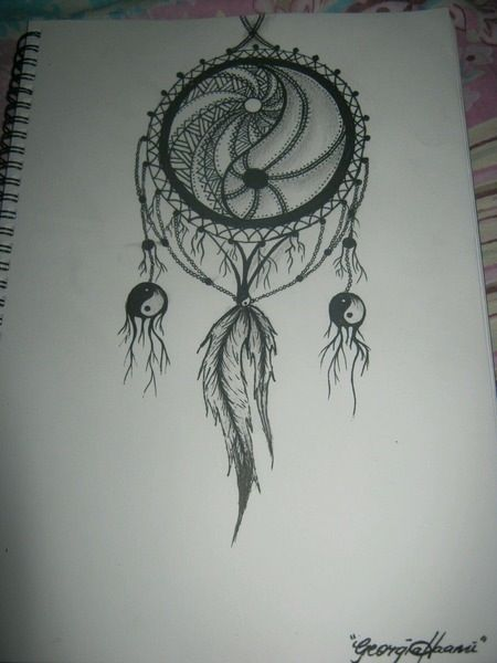 Ying Yang Dream Catcher Dream Catcher Tattoo Dreamcatcher