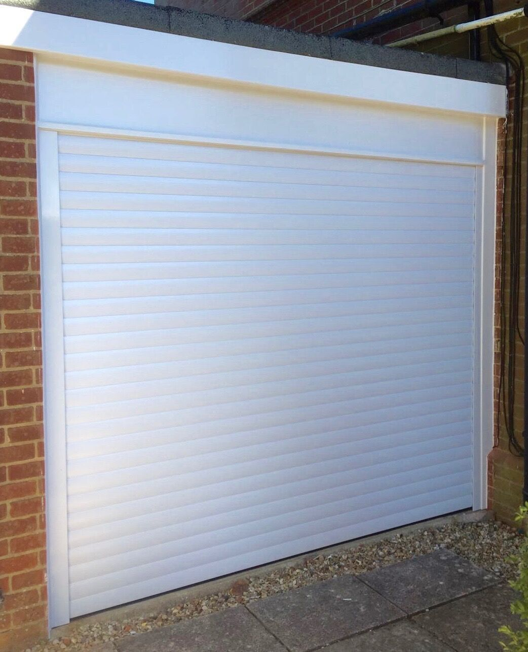 Roller Shutter Garage Door In White Roller Shutter Garage Doors