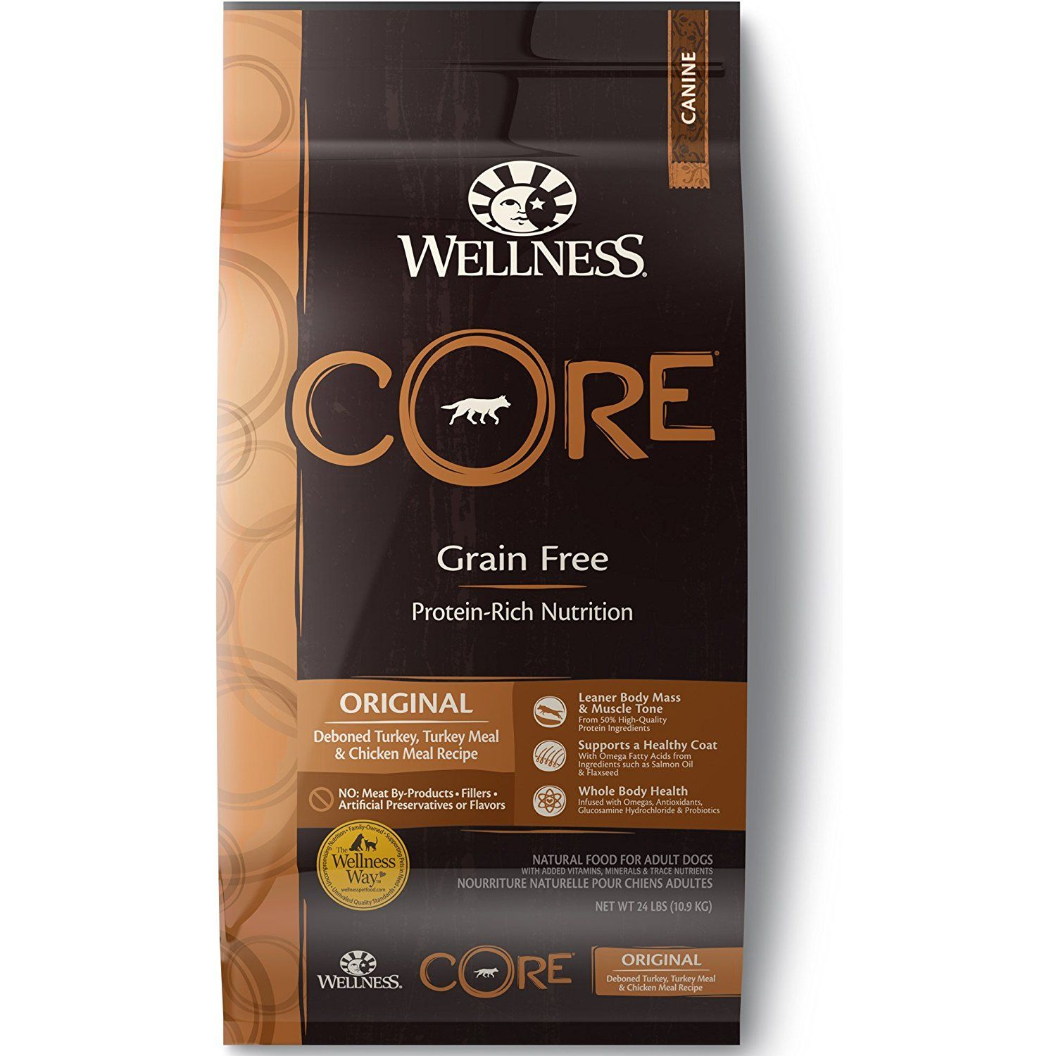 Wellness CORE Natural Grain Free Dry Dog Food *** You can