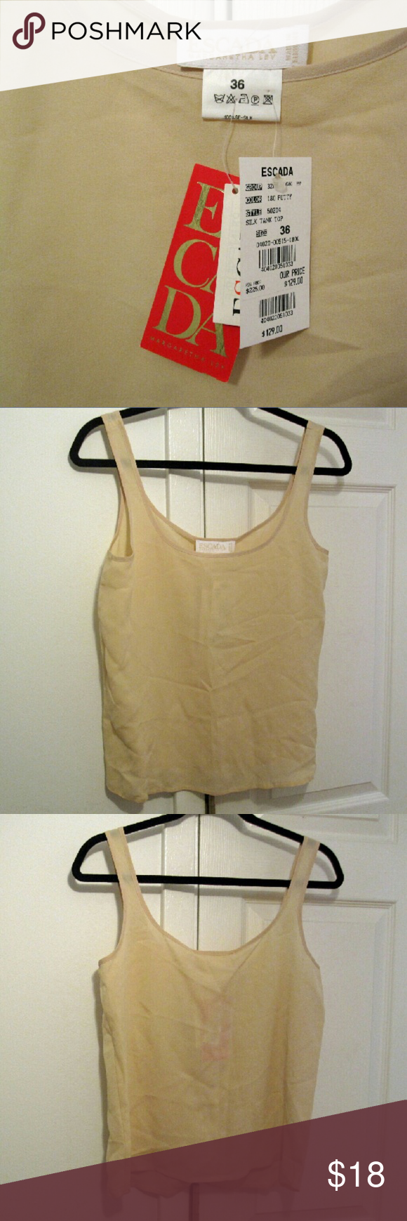 Escada Top New condition. Pet free smoke free home. Items under $10 price firm unless bundled. Purchase or bundle totaling $25+ and receive free gift of choice any closet item priced at $5. Escada Tops Tank Tops