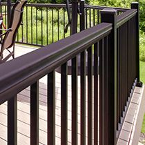 Close Up Of The Deck Railing Posts Available At Menards Deck | Menards Outdoor Stair Railings | Composite | Front Porch Railing | Railing Systems | Patio | Deck Railing Kits