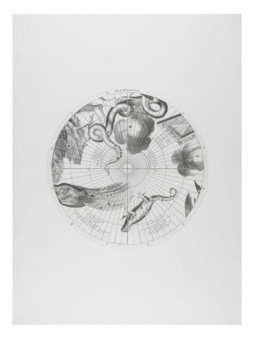 Modèle du globe céleste pour l'année 1700 par C.Coronelli : Pôle méridional