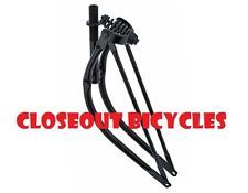 "26/"" Black Bent Springer Fork Bicycle,Bike Cruiser,Chopper Lowrider"