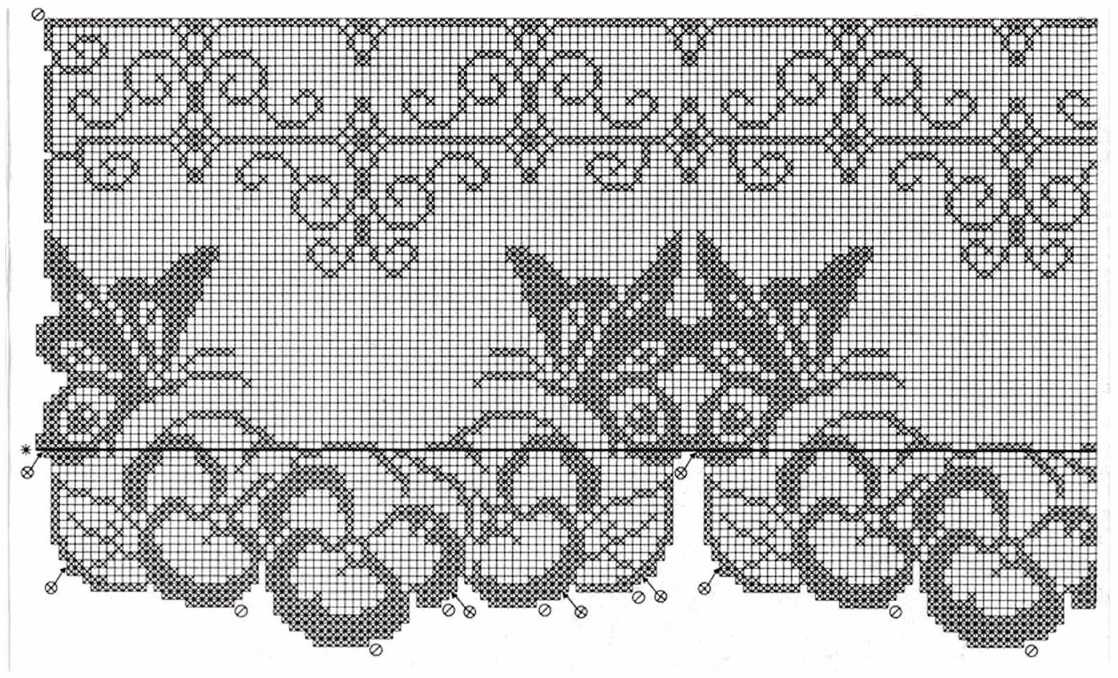 filet crochet   Cenefas en Crochet   Pinterest   Cortinas ...