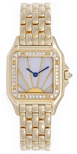 ed816d04083 Cartier Panther Ladies 18k Yellow Gold Diamond Watch