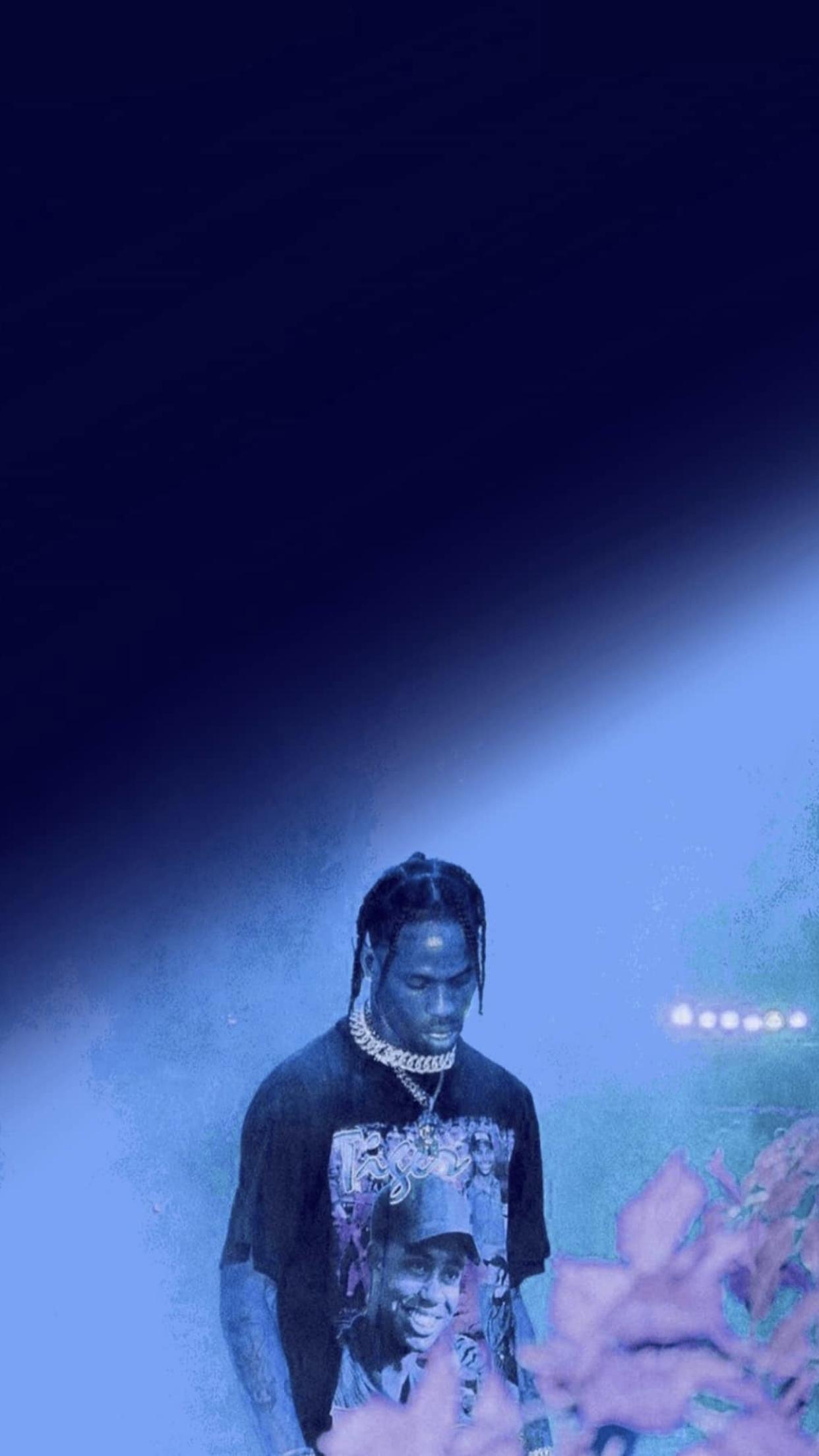 Travis Scott In 2020 Travis Scott Wallpapers Blue Aesthetic Color In Film