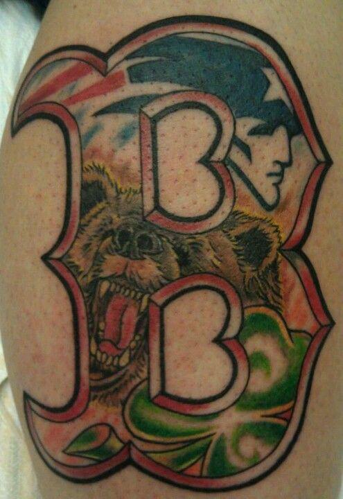Boston sports tattoos | Tattoos | Tattoos, Boston tattoo, Sport tattoos