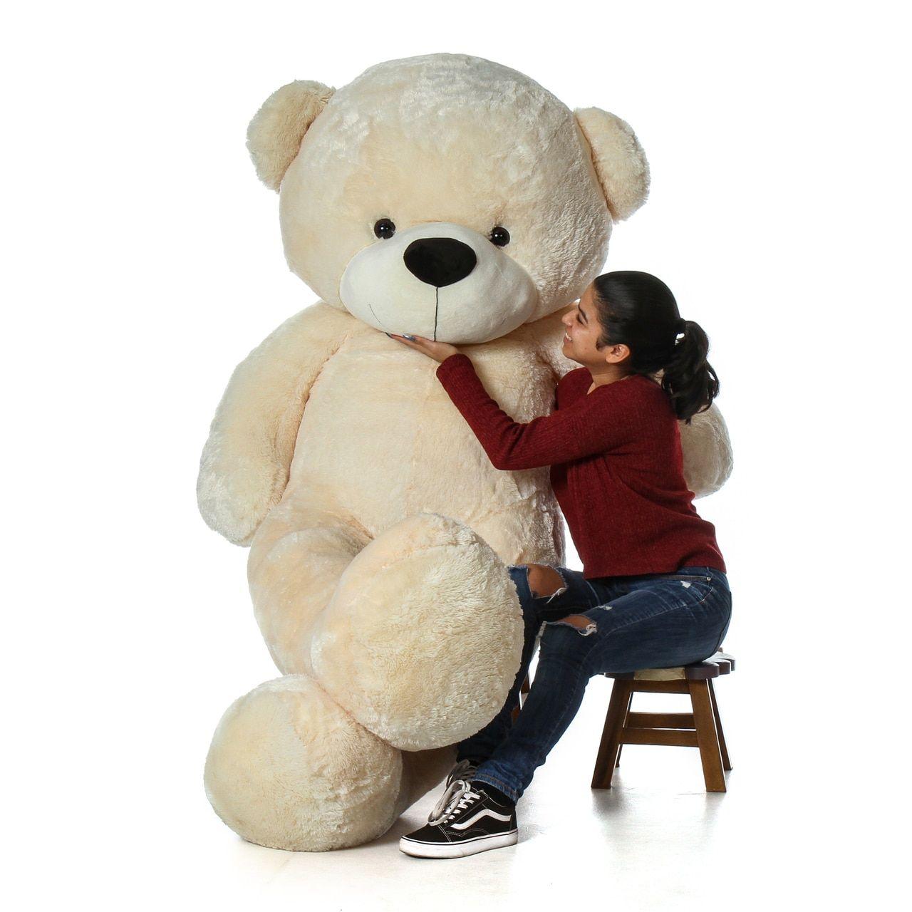 7 Foot Life Size Cozy Cream Giant Teddy Bear Cuddles The Biggest Teddy Bear Giant Teddy Bear Giant Teddy Big Teddy [ 1280 x 1280 Pixel ]